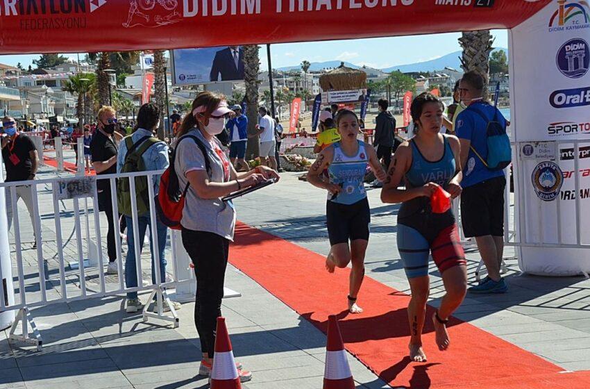 Didim Triatlon yarışları sona erdi.